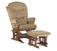 Amazon.com: Dutailier Round Back Cushion Design 2 Post Glider Multiposition, Recline and Ottoman Combo, Light Brown: Baby