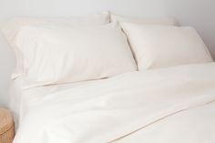 organic Bedding : Flannel Ivory Bedding Set