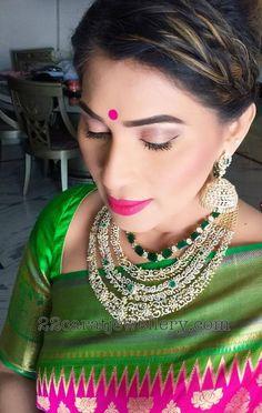 Shreedevi Chowdary Triple Layer Diamond Set