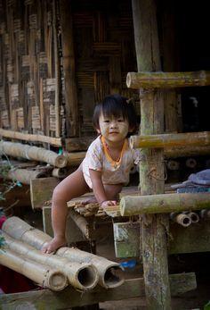 Mon Village Child - Kwai River, Thailand