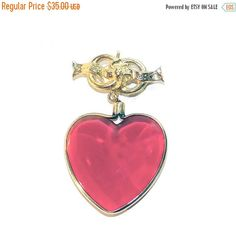 Sale  Valentines Day Accesocraft Heart Brooch by Betsysbijoux