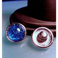 Blue Glitter Snap Button-1pc-12mm-Noosa Style-Noosa Jewelry-Ginger... ($1.44) ❤ liked on Polyvore featuring jewelry, pendants, special occasion jewelry, petite jewelry, holiday jewelry, glitter jewelry and resin charms