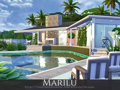 Marilu is a cozy home for a small sim family.  Found in TSR Category 'Sims 4 Residential Lots'