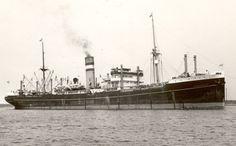 10 februari 1940 Het vrachtschip 'Burgerdyk' (1921)  van de Holland-Amerika Lijn (HAL), varende als neutraal  Nederlands schip, op weg van New York naar Rotterdam, http://koopvaardij.blogspot.nl/2015/02/10-februari-1940.html