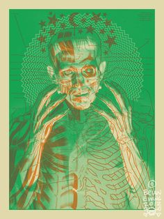 'Artist Brian Ewing has produced a limited edition colorway print of his anatomical Frankenstein's monster poster.'