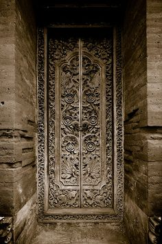 Bali, Ubud Doorway      by  Sam Rohn