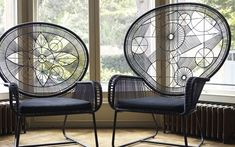 Top 20 Trends for This Winter - Statement Chairs #chairs #geometry #rattanchairs #antiqueblue