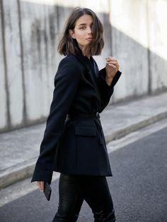 Georgia Alice black blazer | cropped leather-based pants | taste | outfit | HarperandHarley