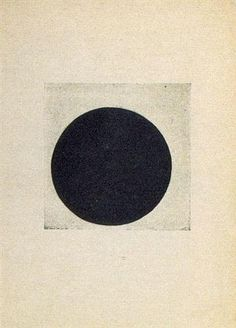 Composition with a black circle - Kazimir Malevich