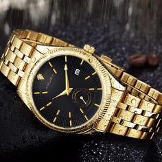 23.18$  Watch now - http://alipx3.shopchina.info/go.php?t=32800053012 - 2017 AMUDA Gold Watch Men Golden Watch Business Casual Quartz Wristwatch Waterproof Male Calendar Relogio Masculino 23.18$ #buymethat