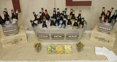 30th Birthday Bash – Beer Tasting Party Ideas. An assortment of beer for all adults to taste test. #partyideas #peartreegreetings