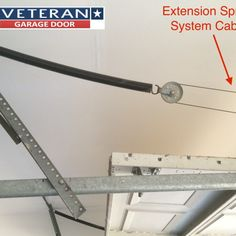 Garage Door Extension Spring System - Protection can be added by automated roller garage doors and give you an additional aw Garage Door Extension Springs, Diy Garage Door, Extensions, Desk, Home Decor, Desktop, Decoration Home, Room Decor, Table Desk