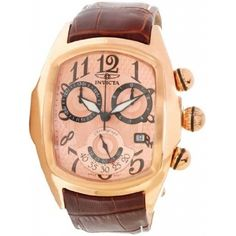 Invicta Lupah Chronograph Rose Gold Dial Rose Gold-tone Stainless Steel Mens Watch 13005