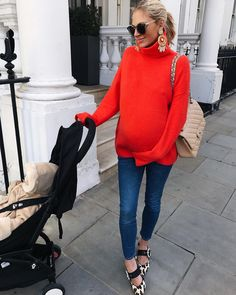15 Maternity Sweater Outfits To Look Stylish - Styleoholic Winter Maternity Outfits, Stylish Maternity, Maternity Wear, Maternity Tops, Maternity Fashion, Maternity Dresses, Maternity Style, Pregnancy Fashion Winter, Maternity Clothing