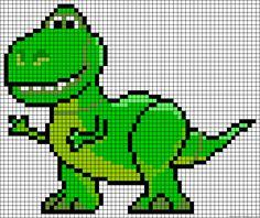 T-Rex Toy Story perler bead pattern http://mistertrufa.net/librecreacion/culturarte/?p=12