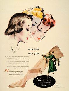 Vintage Mojud Stockings ad.