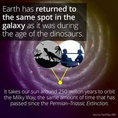 I learned something cool on the @curiositydotcom app: Last Time Earth Was At This Spot in the Galaxy, Dinosaurs Existed