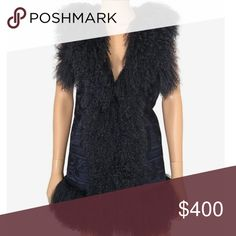 🆕Michael Michael Kors Mongolian sheep fur vest Beautiful navy colored vest with real Mongolian sheep fur MICHAEL Michael Kors Jackets & Coats Vests