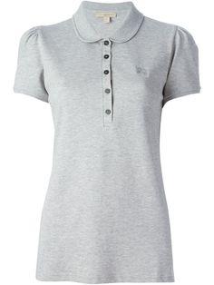 Burberry Brit Woman Polo Shirt Cotton Peter Pan Collar Front Button Slim Fit