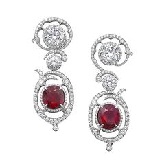 High Jewellery - Ruby & Diamond earrings | Boodles
