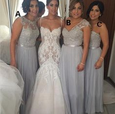 The chiffon bridesmaid dresses are fully lined, 8 bones in the bodice, chest pad in the bust, lace up back or zipper back are all available, total 126 colors are available. Most brides order all bridesmaid dresses at a time, we recommend this way, firstly, we could use the same roll material to ...