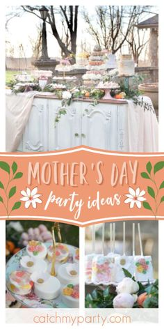 Little Miss Party Planner's Mother's Day / Mommy and Me - Mother's Day Brunch at Catch My Party Balloon Decorations Party, Birthday Decorations, Sweet 16 Party Supplies, Zelda Birthday, Mother's Day Bouquet, Happy Birthday Balloons, Mothers Day Brunch, Dessert Table, Event Ideas
