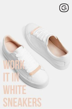 b0067192f7e2 Work It In White Sneakers Cute Summer Outfits, Summer Shoes, Trendy  Outfits, Fashion