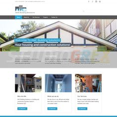 AMC Building Solutions Website Design Visit www.StudioGrfx.com to view my portfolio.  #website #websitedesign #graphicdesign #graphiic #studiogrfx
