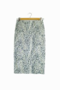 7246faf28 Extra Off Coupon So Cheap Topshop grey & silver animal pattern midi tube  skirt Size 8