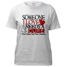 Needs A Cure LUNG CANCER T-Shirt