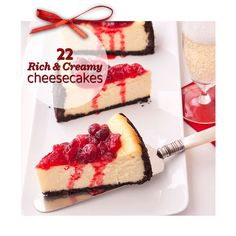 Perfect for Christmas dessert: Rich and creamy cheesecake. 22 recipes: http://www.midwestliving.com/food/desserts/cheesecakes/