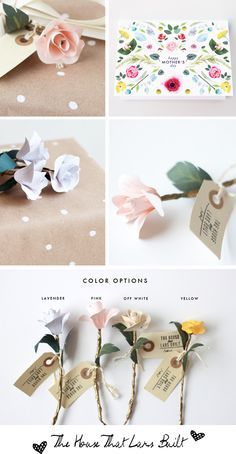 love the flower stationery colours, I am drawn to smaller flowers.