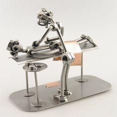 Metal Art - Massage Therapist Gift - Steelman