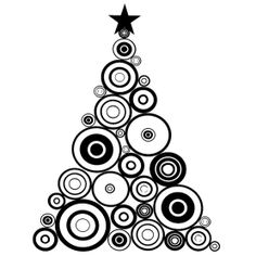IndigoBlu Cling Mounted Stamp Funky Circles Tree