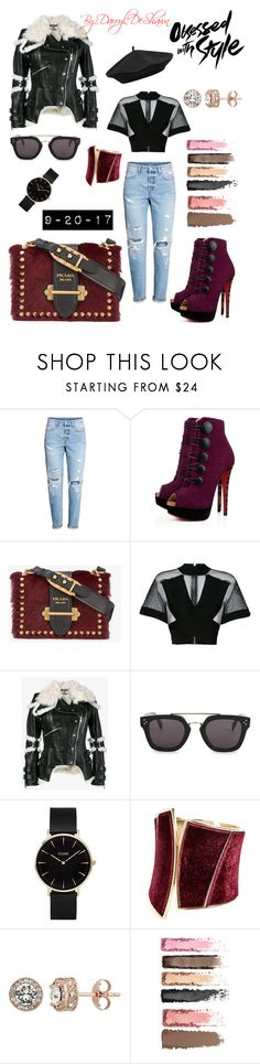"""""""Obsessed with Style"""" by fashionmogul21 ❤ liked on Polyvore featuring Christian Louboutin, Prada, Balmain, Alexander McQueen, CÉLINE, CLUSE, GUESS by Marciano, Diamond Splendor, M&Co and fashiontrend"""