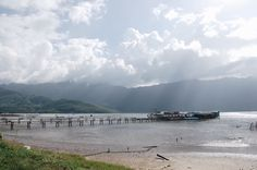 The Ocean Cloud Pass and the laguna of Lang Co in Central Vietnam with amazing beaches