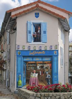 Patrick Commecy cria falsas fachadas hiperrealistas em muros na França.