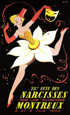 Daffodil Festival Montreux Vintage Posters
