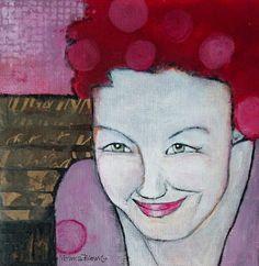 Monica Blom Art: I did it ! akryl 25 x 25