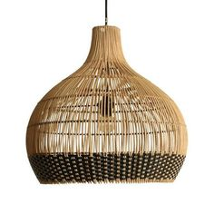 Unique Lamps, Unique Lighting, Pendant Lighting, Coastal Lighting, Lighting Ideas, Wicker Pendant Light, Black Pendant Light, Bamboo Light, Bamboo Lamp