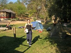 Bre at our beautiful camp site