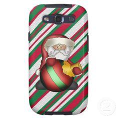 Christmas Santa cartoon Samsung galaxys3 Vibe case Galaxy S3 Covers