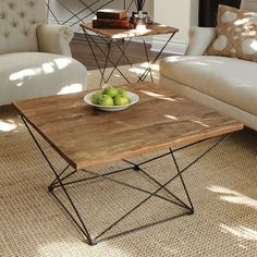 Angled Base Coffee Table | west elm- PERFECT SIZE for the living room