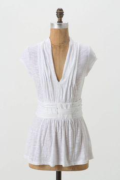 680c2def07 Ett twa basket weave tee - Anthropologie size m in white