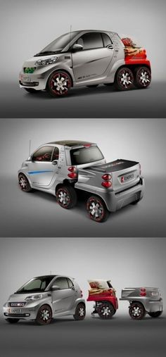 I could really do with one of those trailers for my little Smart car!!