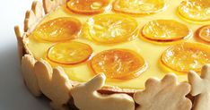Brooklyn-based pastry chef Ayako Kurokawa collects leftover dough from the butter crust of this creamy lemon custard pastry to make decorative cookies to adorn the outside. Lemon Dessert Recipes, Lemon Recipes, Tart Recipes, Sweet Recipes, Snack Recipes, Lemon Custard Tart, Lemon Icebox Pie, Lemon Curd, Lemon Tarts