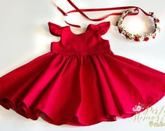 Classic Red Dress | Christmas Dress | Red Dress | Girls Dress | Baby Dress | Toddler Dress | Holiday Dress | Party Dress | Birthday Dress
