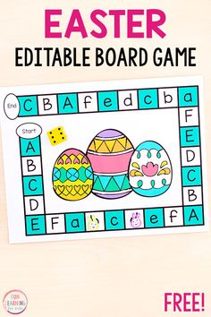 The kids will love playing this editable Easter board game! Use it to teach sight words, letter identification, letter sounds, math facts and more! Alphabet Activities Kindergarten, Kindergarten Lessons, Preschool Games, Easter Activities, Letter Games, Alphabet Games, Abc Games, Alphabet Letters, Math Board Games