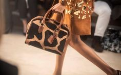 An animal print bag on the Burberry Prorsum Autumn/Winter 2013 runway