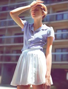 Button Downs, Ruffle Blouse, Collars, Buttons, Tops, Fashion, Moda, Necklaces, Fasion